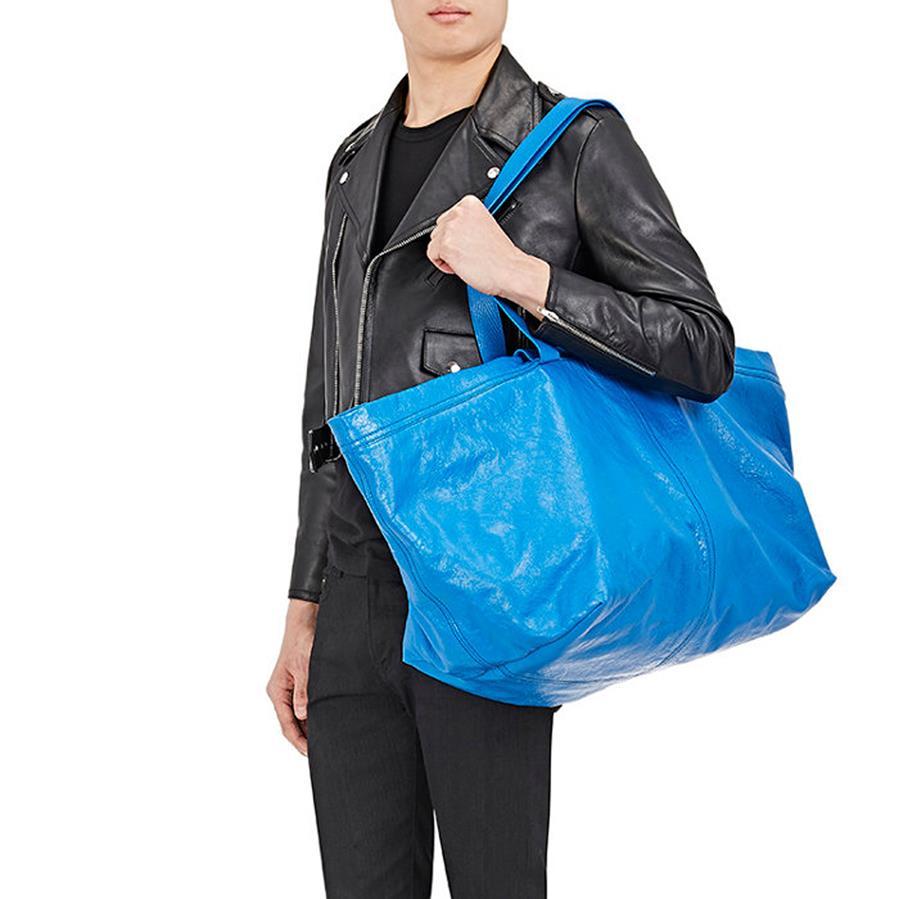 Balenciaga sells £1,705 version of IKEA's blue tote bag worth 40p