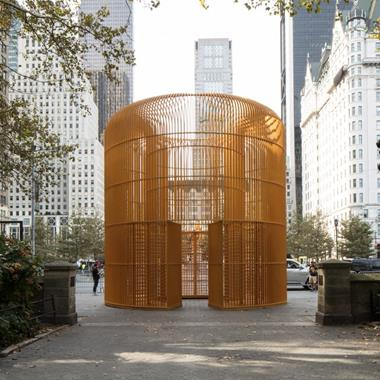 Ai Weiwei protests border walls with huge New York installations