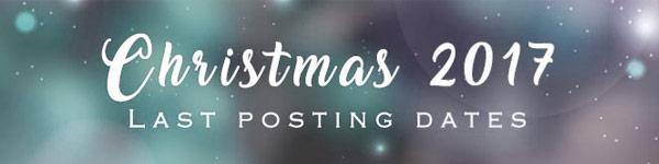 Christmas 2017 Last Posting Dates